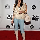 Then: Oh, the days of Kim's non-Kanye West-approved outfits! We can hardly imagine her rocking denim on the red carpet now, when there's so much opportunity to show some skin.