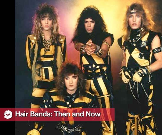 pictures of hair metal bands then and now popsugar beauty