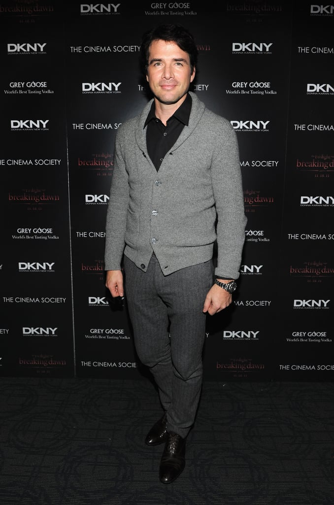 Matthew Settle took a break from Gossip Girl to attend the Breaking Dawn screening in NYC.
