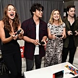 Pictured: Tasya Teles, Bob Morley, Eliza Taylor, and Richard Harmon.