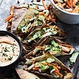 Mini Banh Mi Wonton Tacos