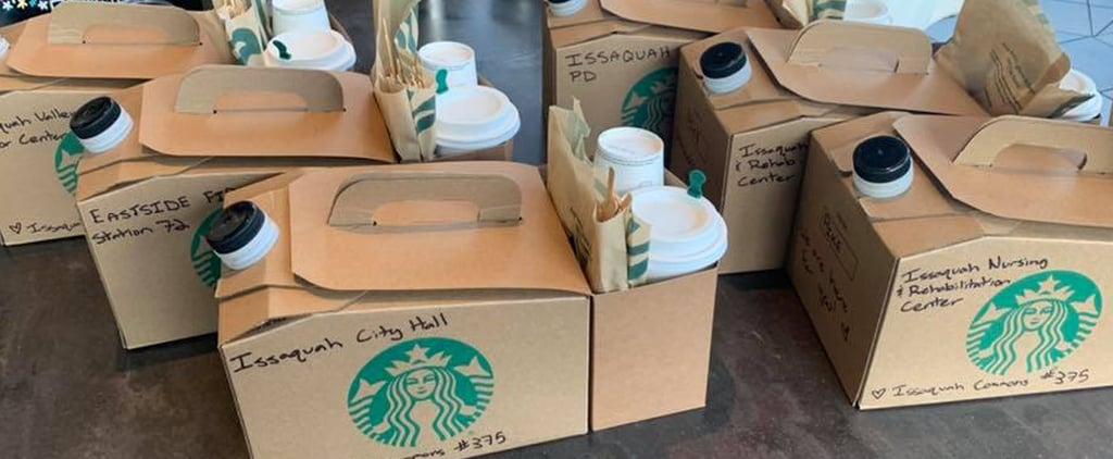 Starbucks Gives Free Coffee to Coronavirus First Responders