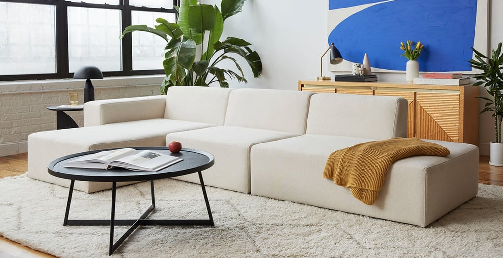 For a Simple Yet Elevated Sofa: Floyd Sectional Three-Seater Sofa With Chaise
