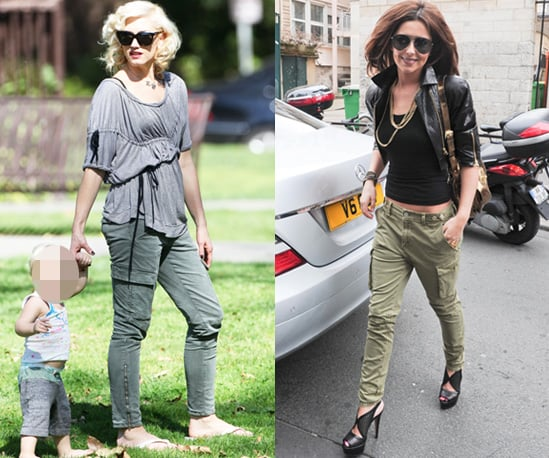 Gwen Stefani and Cheryl Cole Work J Brand Houlihan Combat Trousers