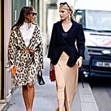 Style Your Leopard-Print Coat With: A White Turtleneck, Boots, and a Belt