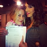 Whitney Cummings snapped a pic with her former assistant-turned-writer. Source: Instagram user therealwhitney