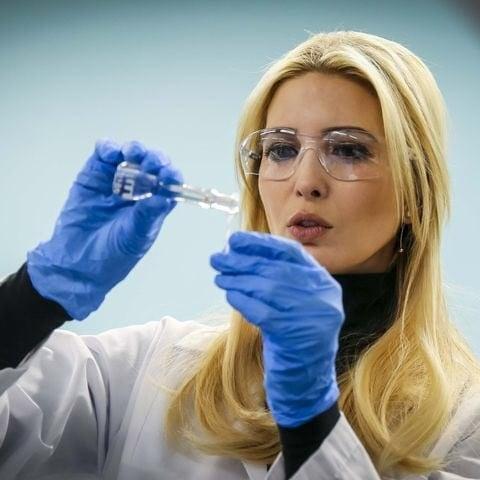 Ivanka Trump Scientist Cosplay Photo March 2018