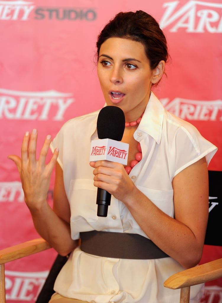 Jamie Lynn Sigler checked out the Variety and Stella Artois lounge.