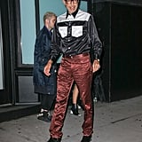 When He Wore Head-to-Toe Satin (?!) at New York Fashion Week