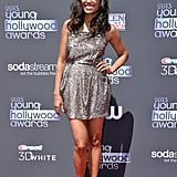 Young Hollywood Awards host Aisha Tyler struck a pose on the red carpet before the show.