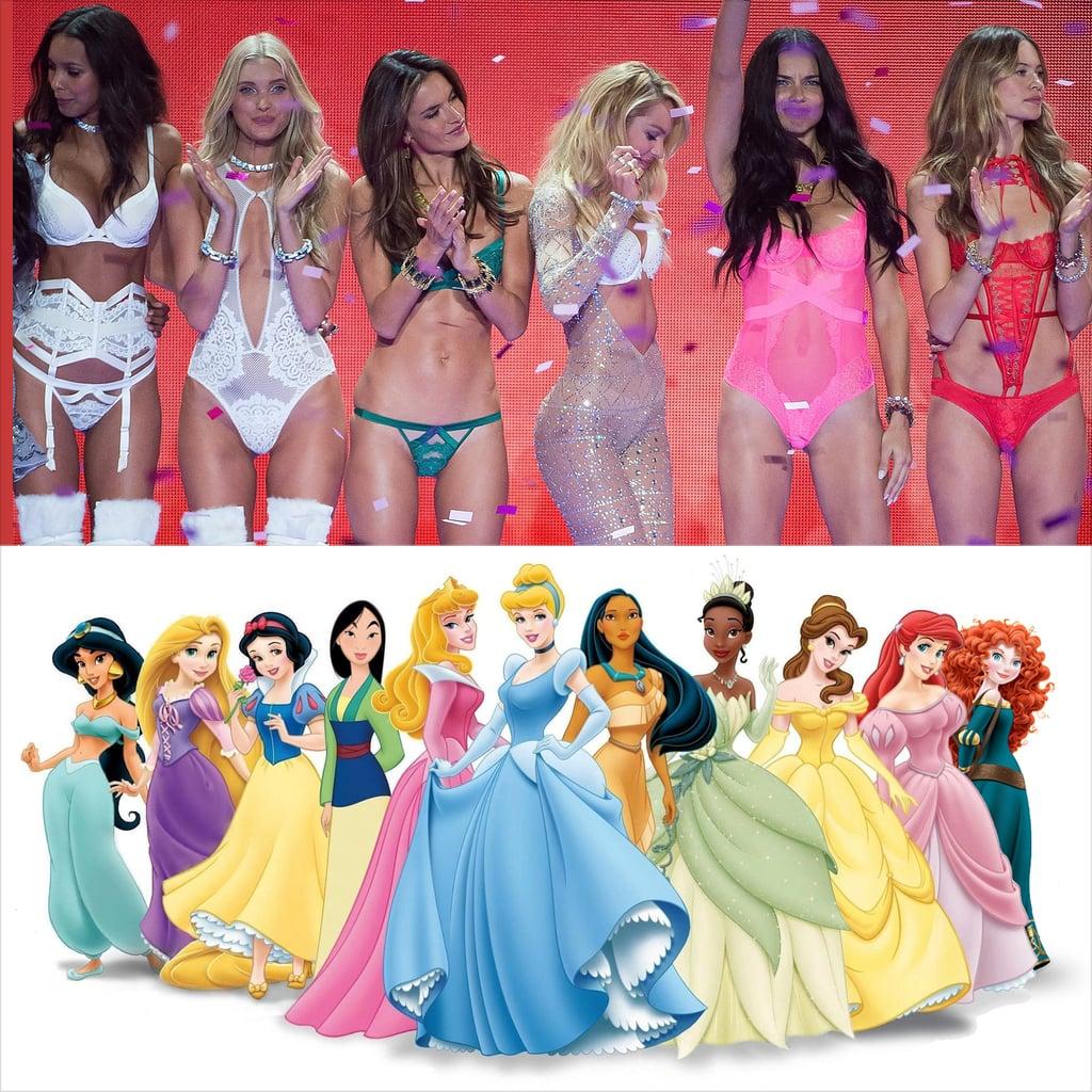 Disney Princesses Victoria's Secret Angels 2015