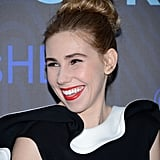 Ladies with thick hair can easily copy Zosia Mamet's bun. First split your ponytail into two sections, then pin one on top of the other for a beehive effect.