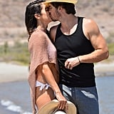 Nikki Reed and Ian Somerhalder kissed on the beach in Mexico in June 2018.