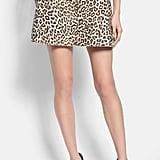 Carven Leopard Print Flared Skirt