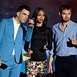 Zachary Quinto, Zoe Saldana, and Chris Pine got together to announce one of the night's winners.