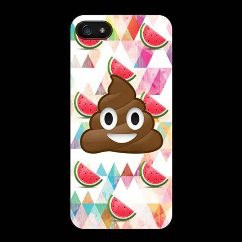 Smiling Poop and Watermelon Phone Case ($13)