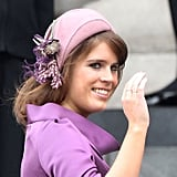 1. Princess Eugenie's Purple and Pink Fascinator