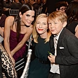 Cate Blanchett and her son Roman snapped a photo with Sandra Bullock at the Critics' Choice Awards.