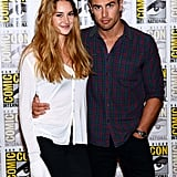 Shailene Woodley posed with her Divergent costar Theo James.