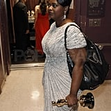 Octavia Spencer carried her Oscar and purse backstage at the Academy Awards.