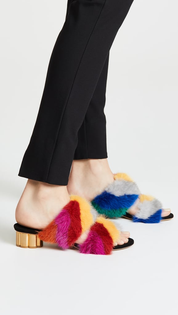 Salvatore Ferragamo Belluno Fur Slide