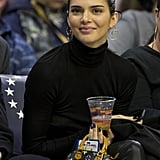 Kendall Wore the Rainbow Louis Vuitton Mini Bag to the Philadelphia 76ers Game