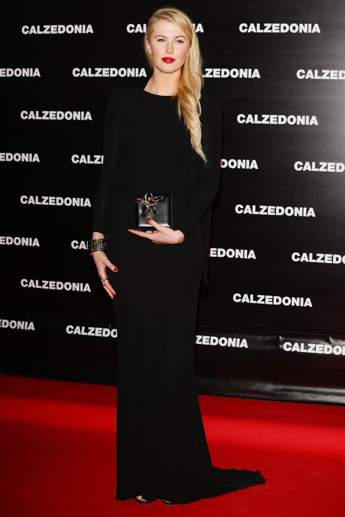 Ireland Baldwin stepped out for the Calzedonia show in Italy.
