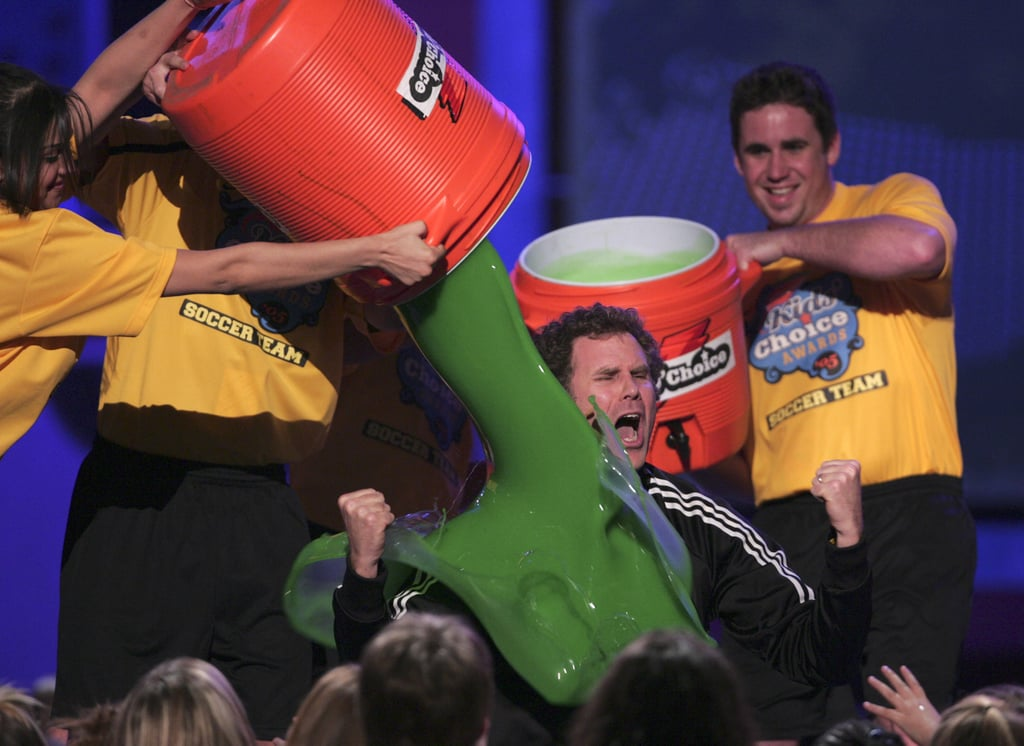 Will Ferrell had slime poured on him like Gatorade in 2005.
