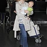 January Jones With Xander in NYC Pictures