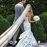 Kristin Cavallari's veil went on for days!