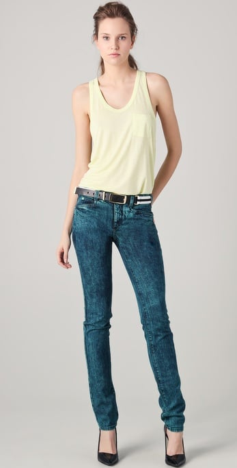 Theyskens' Theory Piquer Skinny Jeans ($250)