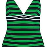 Stella McCartney Calypso Striped Swimsuit - Forest green