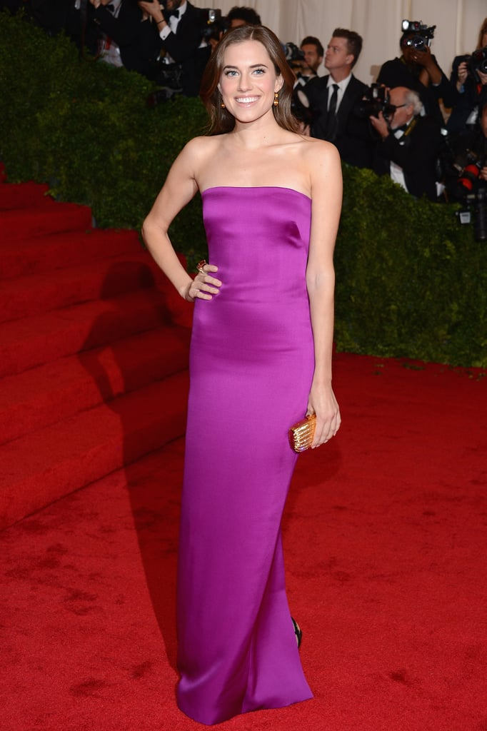 Allison looked statuesque in a strapless magenta column gown by Ralph Lauren Collection at the 2012 Met Gala.
