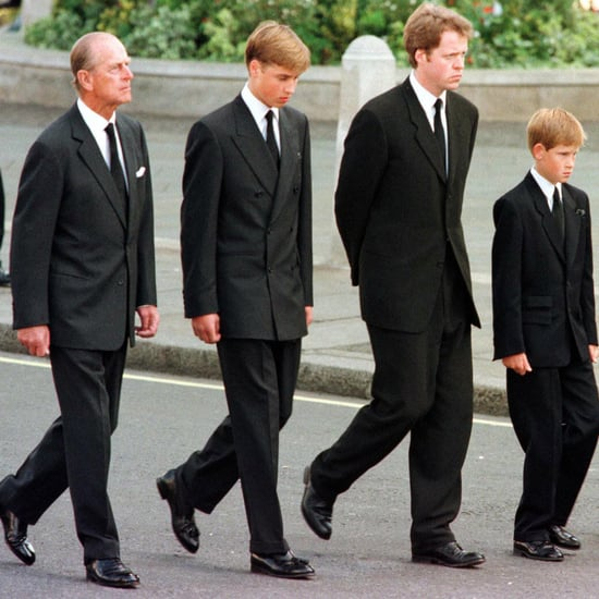 William and Harry at Princess Diana's Funeral