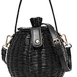 Ulla Johnson Tautou Mini Leather-Trimmed Wicker Shoulder Bag ($323.84)