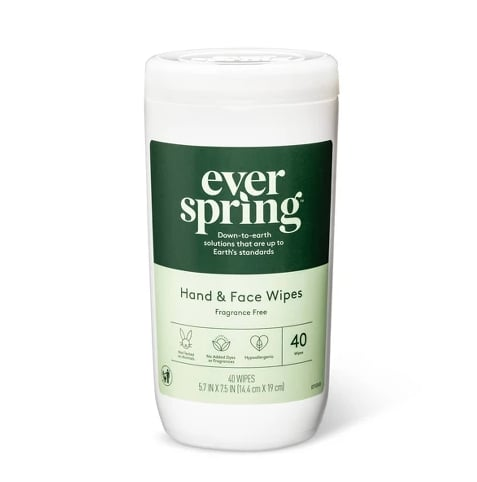 EverSpring Fragrance Free Hand & Face Wipes