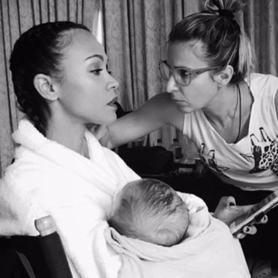 Zoe Saldana Working Mom Instagram Picture May 2017