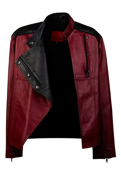 I wouldn't normally invest in a leather jacket that's anything but black, but I've come to realise that burgundy is one of those colours that is surprisingly versatile. I love that this Manning Cartell jacket has black details, a boxy fit and costs less than $500. — Jess, Celebrity Editor. Jacket, $449.50 from $899, Manning Cartell