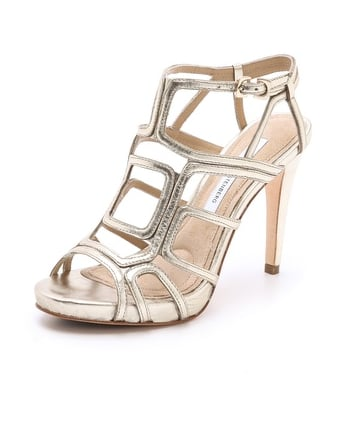 Diane von Furstenberg's Jeanette cutout sandals ($209, originally $298) are like works of art for your feet.
