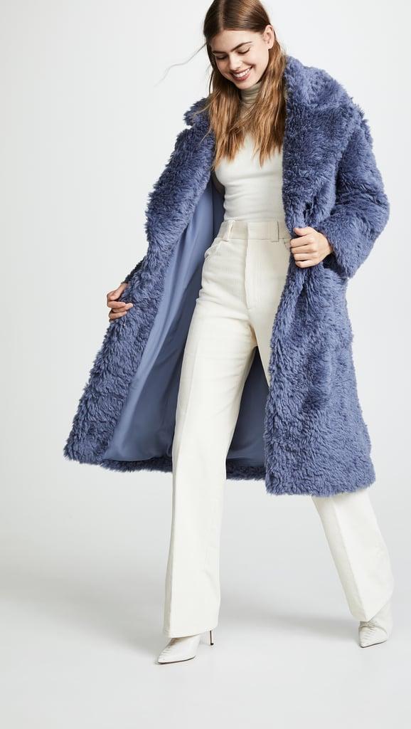 Vika Gazinskaya Oversized Eco Furry Coat
