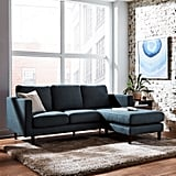 Rivet Revolve Modern Upholstered Sofa with Reversible Sectional Chaise