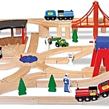 Melissa & Doug Classic Wooden Railway Set