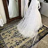 Constellation Star Applique Bridal Veil