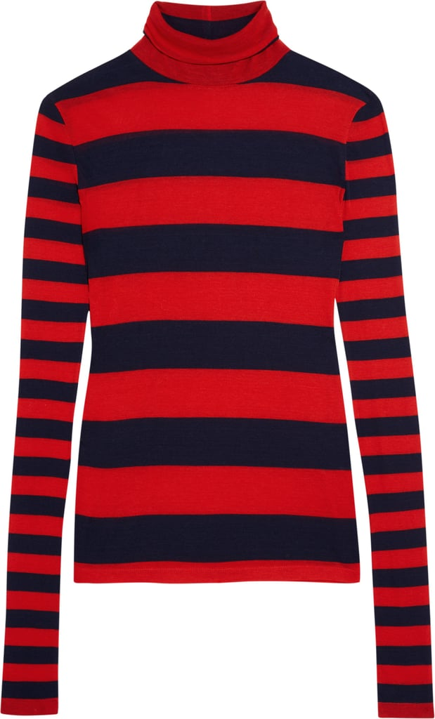 Striped Tencel and Cashmere-Blend Turtleneck Sweater ($120)