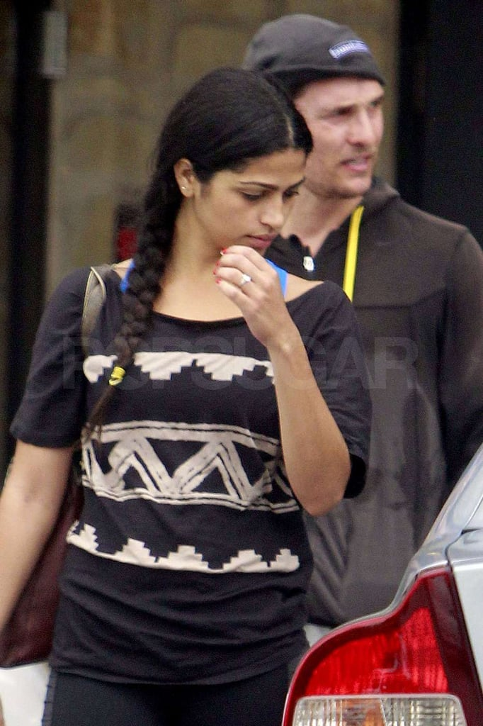 Matthew McConaughey and Camila Alves were together in Austin.