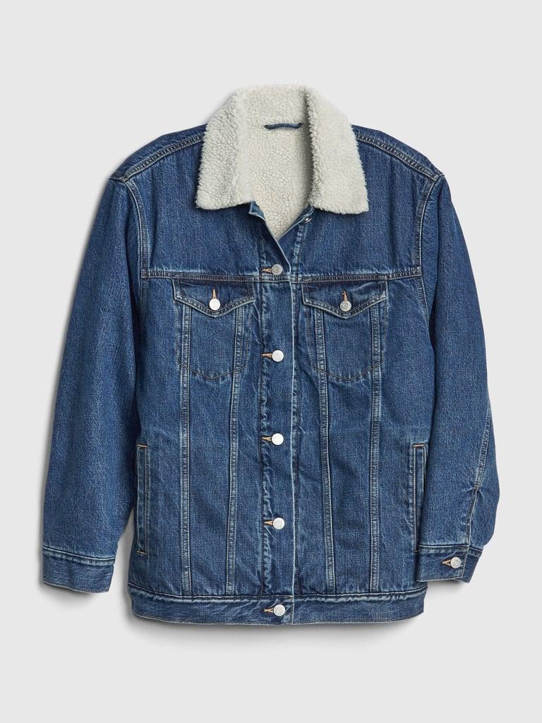 Sherpa Denim Jacket For Fall