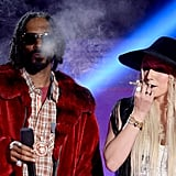 Things got a little smokey when Snoop Dogg and Ke$ha got together on stage.