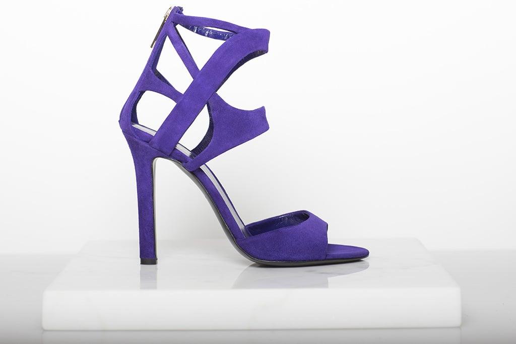 Fatale Suede High Heel Sandal in Purple Photo courtesy of Tamara Mellon