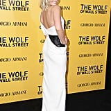Margot Robbie in Armani Privé at New York's The Wolf of Wall Street premiere.