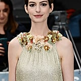 Anne Hathaway looked stunning at the Dark Knight Rises premiere in London.